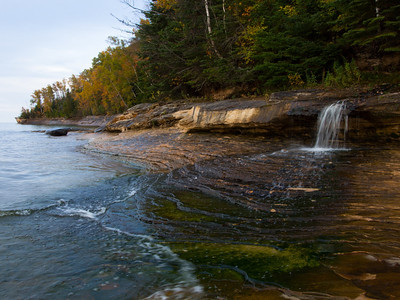 Elliot Falls, Miner's Beach Pictured Rocks National Lakeshore Michigan U.P.