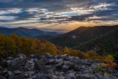 Sunset from Blackrock summit